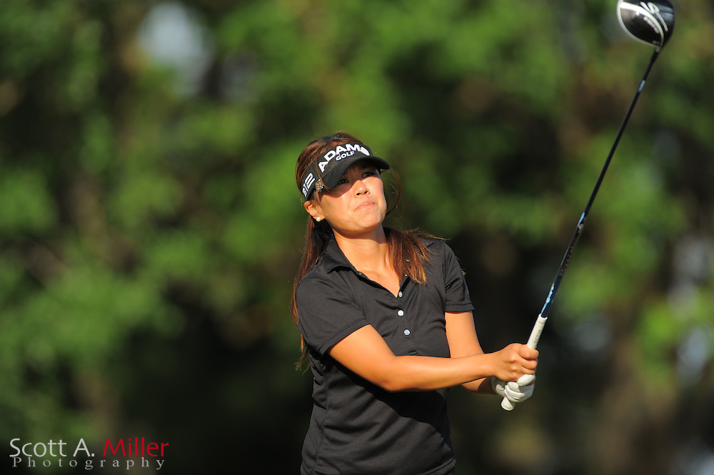 Hannah Jun during the second round of the Symetra Tour's Florida's Natural Charity Classic at the Lake Region Yacht and Country Club on March 24, 2012 in Winter Haven, Fla. ..©2012 Scott A. Miller.