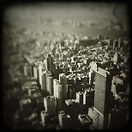View of Manhattan skyline from the Empire State Building..
