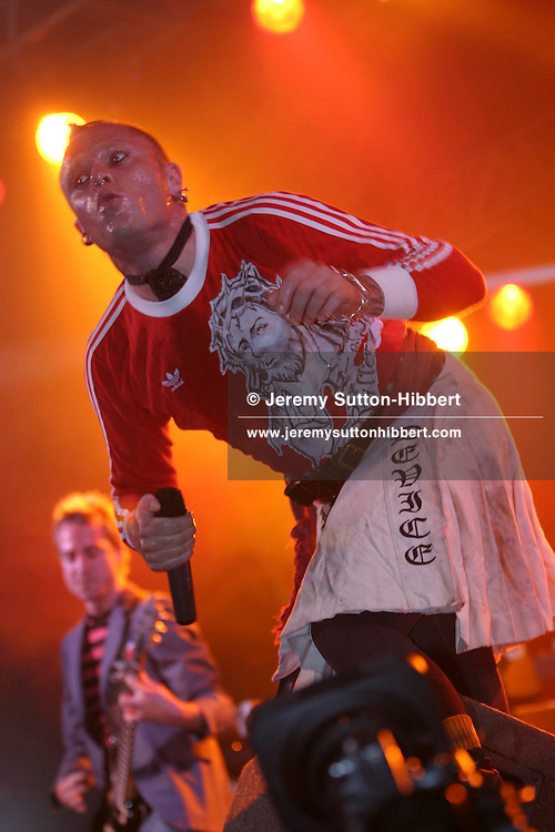 Flint of 'The Prodigy',  T In The Park music festival, Balado, Scotland, 2003.