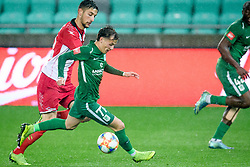 Ilija Martinovic, Stefan Savic during football match between NK Olimpija Ljubljana and NK Aluminij in semi final of Slovenian Cup 2018/19, on April 23, 2019 in Stozice Stadium, Ljubljana, Slovenia. Photo by Morgan Kristan