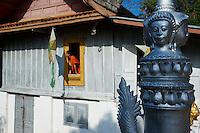 Laos, Province de Luang Prabang, ville de Luang Prabang, Patrimoine mondial de l'UNESCO depuis 1995, temple Vat Ho Siang // Laos, Province of Luang Prabang, city of Luang Prabang, World heritage of UNESCO since 1995, Wat Ho Siang temple