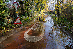© Licensed to London News Pictures 16/11/2019, Cerney Wick, UK. Flodded roads and gardens in Cerney Wick, near Cirecenster.. Photo Credit : Stephen Shepherd/LNP