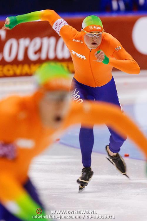 NLD/Heerenveen/20130112 - ISU Europees Kampioenschap Allround schaatsen 2013 dag 2, 1500 meter heren, start Sven Kramer - Jan Blokhuijsen