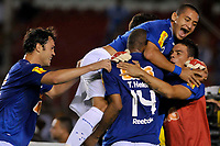 20100224: BELO HORIZONTE, BRAZIL - Cruzeiro vs Colo Colo: Copa Libertadores 2010. In picture: Kleber (L), Wellington Paulista and Thiago Heleno (Cruzeiro) celebrating goal. PHOTO: CITYFILES