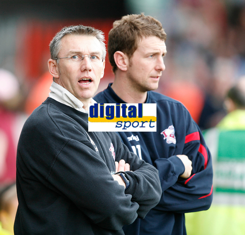 Photo: Steve Bond.<br />Scunthorpe United v Nottingham Forest. Coca Cola League 1. 10/03/2007. Scunthorpe Manager Nigel Adkins