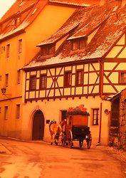 Horse-drawn carriage Holstein, Germany