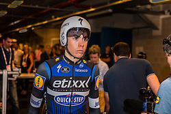 DE LA CRUZ David from Spain of Etixx - Quick Step (BEL) before the start at velodrome Omnisport, stage 1 (ITT) from Apeldoorn to Apeldoorn running 9,8 km of the 99th Giro d'Italia (UCI WorldTour), The Netherlands, 6 May 2016. Photo by Pim Nijland / PelotonPhotos.com | All photos usage must carry mandatory copyright credit ( Peloton Photos | Pim Nijland)