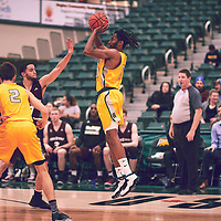 4th year guard, Gresihe Clerjuste (0) of the Regina Cougars during the Men's Basketball Home Game on Fri Nov 30 at Centre for Kinesiology,Health and Sport. Credit: Arthur Ward/Arthur Images