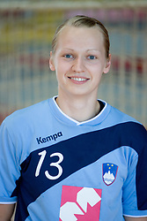 Portrait of Nusa Skutnik of Slovenian Handball Women National Team, on June 3, 2009, in Arena Kodeljevo, Ljubljana, Slovenia. (Photo by Vid Ponikvar / Sportida)