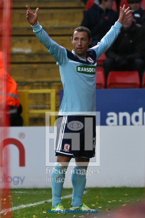 Picture by David Horn/Focus Images Ltd +44 7545 970036.03/11/2012.Scott McDonald of Middlesbrough celebrates scoring during the npower Championship match at The Valley, London.
