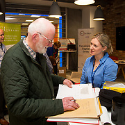 04.04.2017         <br /> Digitisation and Archives professionals from the Gluksman Library University of Limerick presented a talk on Attics to Archives at the Bank of Ireland Workbench for the Limerick Lifelong Learning Festival.<br /> Pictured at the event were, Ger Griffin with a collection of letters dating from 1798-1800 relating to tobacco growing in Ireland and letters from 1916 military related with Evelyn McAuley, Glucksman Library. Picture: Alan Place