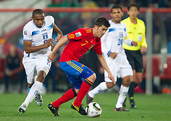 David Villa of Spain during the 2010 FIFA World Cup South Africa Group H Second Round match between Spain and Honduras on June 21, 2010 at Ellis Park Stadium, Johannesburg, South Africa.   (Photo by Vid Ponikvar / Sportida)