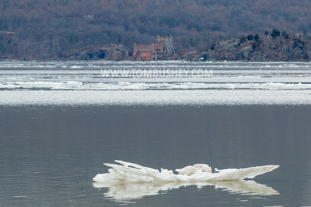 New Windsor, New York - A view of the Hudson River from Plub Point  on March 27, 2015.