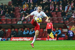 November 10, 2017 - Warsaw, Poland - Jacek Goralski (POL) in action during the international friendly match between Poland and Uruguay at National Stadium on November 10, 2017 in Warsaw, Poland. (Credit Image: © Foto Olimpik/NurPhoto via ZUMA Press)