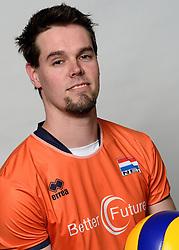 09-05-2014 NED: Selectie Nederlands zitvolleybal team mannen, Leersum<br /> In sporthal De Binder te Leersum werd het Nederlands team zitvolleybal seizoen 2014-2015 gepresenteerd / Willem Siepel