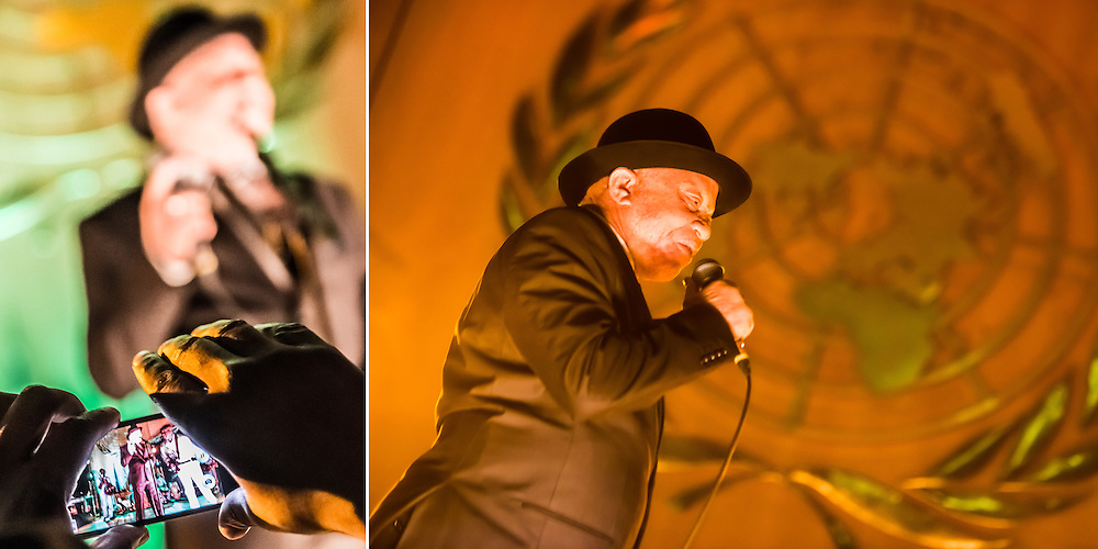 Famed Mali artist Salif Keita comes to Geneva with his band to play for the international community at the United Nations