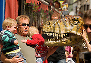 This week at the Galway Arts Festival the eye-popping visual feast that is the Dinosaur Petting Zoo is an extraordinary performance throught the streets of Galway. Children will got up close and personal with these amazingly life-like creatures during this fun-filled show. Photo:Andrew Downes