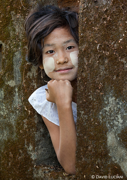 A girl posing near my guesthouse in Mrauk U.