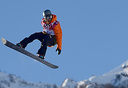 08-02-2014 SNOWBOARDEN: OLYMPIC GAMES: SOTSJI<br /> Training Halfpipe /  Dolf van der Wal<br /> ©2014-FotoHoogendoorn.nl<br />  / Sportida