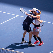 2019 US Open Tennis Tournament- Day Thirteen.    Bethanie Mattek-Sands of the United States and Jamie Murray of Great Britain celebrate their victory against Hao-Ching Chan of Taiwan and Michael Venus of New Zealand in the Mixed Doubles Final on Arthur Ashe Stadium during the 2019 US Open Tennis Tournament at the USTA Billie Jean King National Tennis Center on September 7th, 2019 in Flushing, Queens, New York City.  (Photo by Tim Clayton/Corbis via Getty Images)