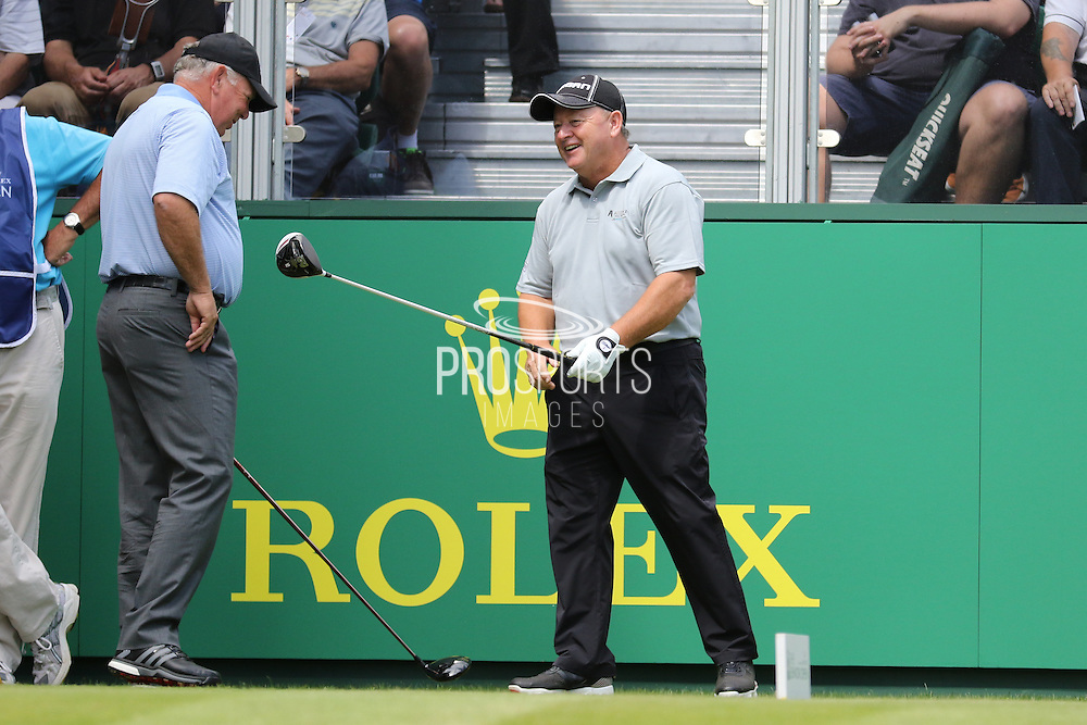 Ian Woosnam and Mark O'Meara at the first tee during The Senior Open Championship at Sunningdale Golf Club, Sunningdale, United Kingdom on 23 July 2015. Photo by Ellie  Hoad.