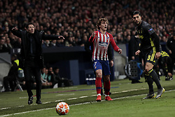 February 20, 2019 - Madrid, Madrid, Spain - Atletico de Madrid's Antoine Griezmann and Juventus' Giorgio Chiellini during UEFA Champions League match, Round of 16, 1st leg between Atletico de Madrid and Juventus at Wanda Metropolitano Stadium in Madrid, Spain. February 20, 2019. (Credit Image: © A. Ware/NurPhoto via ZUMA Press)