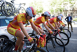 Spanish national team warm up for Madrid Challenge by la Vuelta 2017 - a 87 km road race on September 10, 2017, in Madrid, Spain. (Photo by Sean Robinson/Velofocus.com)