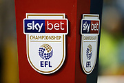 The Sky Bet branded ball stand before the EFL Sky Bet Championship match between Sheffield Wednesday and Stoke City at Hillsborough, Sheffield, England on 22 October 2019.