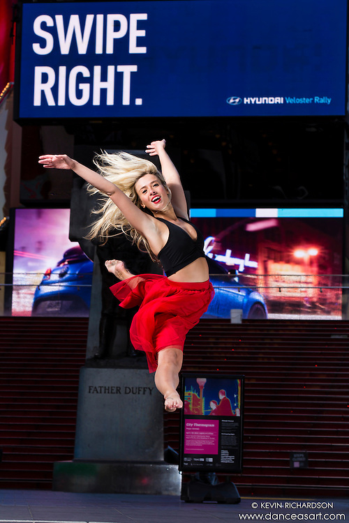 Dance As Art Times Square New York City Dance Photography with Kristina Zivokic