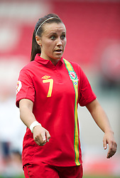 LLANELLI, WALES - Saturday, September 15, 2012: Wales' Natasha Harding in action against Scotland during the UEFA Women's Euro 2013 Qualifying Group 4 match at Parc y Scarlets. (Pic by David Rawcliffe/Propaganda)