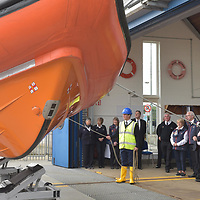 """REPRO FREE<br /> His Royal Highness the Duke of Kent and John O'Gorman watches a the Kinsale Lifeboat 'Sally Anne Baggy' is launched during a visit to Kinsale RNLI Lifeboat Station on Wednesday.<br /> Picture. John Allen<br /> <br /> Volunteer crew members of Kinsale RNLI  gave a warm welcome the His Royal Highness the Duke of Kent who made his first visit to the busy West Cork lifeboat station today (Wednesday 31 May).  The Duke has been Patron and President  of the RNLI,  the charity that saves lives at sea, since 1969.   He spent almost an hour meeting volunteers and hearing details of successful rescues by the Kinsale volunteers, including the Sean Anthony in April 2016 when three Portuguese fishermen were saved from a sinking trawler, and the evacuation of 30 people from the sailing vessel Astrid that foundered outside Kinsale Harbour in July 2013.  The Duke was introduced to Christopher Keane Hopcraft, one of the young people rescued from the Astrid, and Mrs Janet Rutherford who received medical attention and was brought to safety after she was injured on board a yacht.  Members of the local community were also invited to meet the Duke, including representatives of Kinsale's fishing fleet, along with RNLI volunteers from West Cork's newest station in Union Hall and representatives of the GAA, partners in the RNLI Respect the Water campaign that aims to halve the number of coastal deaths by 2024.<br /> <br /> The Duke said:<br /> <br /> Kinsale RNLI Lifeboat Operations Manager, John O'Gorman, said:  """"It was a honour and a privilege for us to meet the Duke who has provided unwavering support to the RNLI for almost half a century.  Our station on the Wild Atlantic Way is a long way from the RNLI HQ in Poole so we rarely get the opportunity to meet someone so close to the heart of the charity.  In that time he has visited the vast majority of lifeboat stations and we are delighted he chose to add Kinsale to that list.  He showed a great knowledge and understanding"""