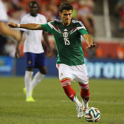 Héctor Moreno, Mexico, shoots during the Portugal V Mexico International Friendly match in preparation for the 2014 FIFA World Cup in Brazil. Gillette Stadium, Boston (Foxborough), Massachusetts, USA. 6th June 2014. Photo Tim Clayton