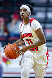 NORMAL, IL - January 05: Tete Maggett during a college women's basketball game between the ISU Redbirds and the Purple Aces of University of Evansville January 05 2020 at Redbird Arena in Normal, IL. (Photo by Alan Look)