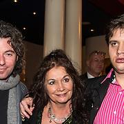 NLD/Amsterdam/20150202 - Willeke Alberti 70 jaar, Belinda Meuldijk en partner Thierry Duval Slothouwer en zoon Yoshi