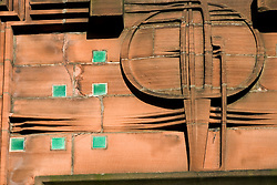Detail of art nouveau on Scotland street School buy Charles Rennie Mackintosh in Glasgow Scotland