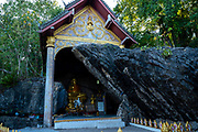 Buddhist shrine on Mount Phousi, Luang Prabang, Laos.