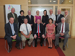 Members of the Multi Agency Committee at the  opening of the Leeson Enterprise centre Westport Front from left Myles Staunton, Cllr Christy Hyland, Michael Ring Minister for Rural and Community Development, Catherine McConnell Director of Services Mayo County Council and James O'Doherty Multi Agency Committee. Standing Padraig Walsh, Ann Moore, Cathal Hughes (Hughes Group) Mary Daly AMO Ireland, Stephanie Colombani (Westport Chamber of Commerce), Martin McFadden Westport Multi-Agency Enterprise Company, Peter Hynes CEO Mayo County Council, and Dermot Langan West Mayo Municipal Authority.<br />Pic Conor McKeown