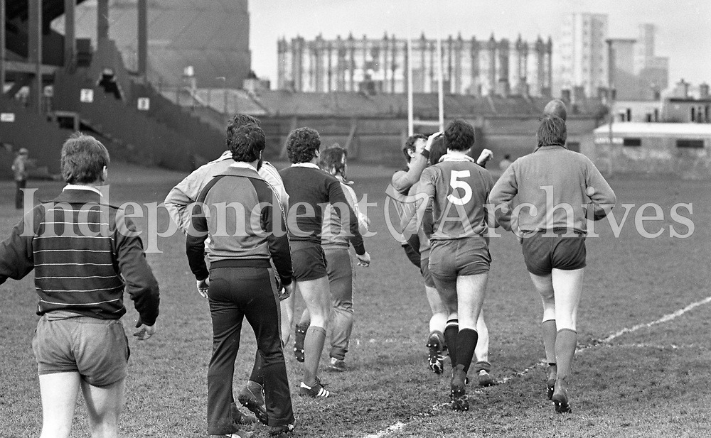 Irish Rugby Squad Lansdowne Road, Dublin, 31/01/1982 (Part of the Independent Newspapers Ireland/NLI Collection).