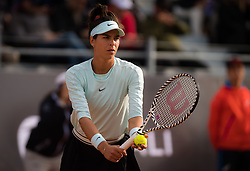 May 14, 2019 - Rome, ITALY - Ajla Tomljanovic of Australia in action during her first-round match at the 2019 Internazionali BNL d'Italia WTA Premier 5 tennis tournament (Credit Image: © AFP7 via ZUMA Wire)