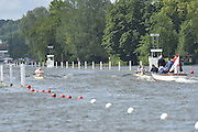 Henley, GREAT BRITAIN.  Brittania Challenge Cup.  Tideway Scullers' School. and Taurus BC, at the start of their Saturday heat.  2012 Henley Royal Regatta.  ..Saturday  11:01:19  30/06/2012. [Mandatory Credit, Peter Spurrier/Intersport-images]...Rowing Courses, Henley Reach, Henley, ENGLAND . HRR.