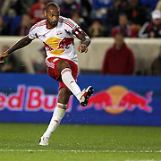Thierry Henry, New York Red Bulls, shoots during the New York Red Bulls V Houston Dynamo, Major League Soccer second leg of the Eastern Conference Semifinals match at Red Bull Arena, Harrison, New Jersey. USA. 6th November 2013. Photo Tim Clayton