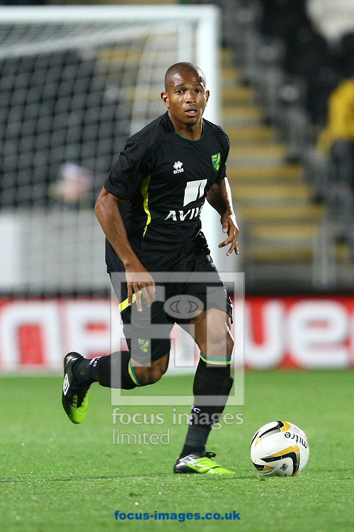 Picture by Paul Chesterton/Focus Images Ltd +44 7904 640267.07/08/2012.Simeon Jackson of Norwich in action during the Friendly match at the KC Stadium, Kingston upon Hull.