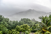 Foggy Landscape of the sacred  Arunachala Hill, near Tiruvannamalai, Tamil Nadu, India