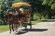 Horse and wagon near Bartolome Maso, Granma, Cuba.