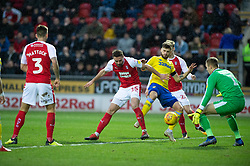 January 26, 2019 - Rotherham, England, United Kingdom - Mateusz Klich of Leeds United scores his team's first goal .during the Sky Bet Championship match between Rotherham United and Leeds United at the New York Stadium, Rotherham, England, UK, on Saturday 26th January 2019. (Credit Image: © Mark Fletcher/NurPhoto via ZUMA Press)