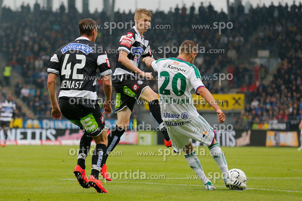 03.05.2015, UPC Arena, Graz, AUT, 1. FBL, SK Puntigamer Sturm Graz vs SK Rapid Wien, 31. Runde, im Bild Roman Kienast (Sturm), Simon Piesinger (Sturm) und Maximilian Hofmann (Rapid) // during the Austrian Football Bundesliga Match, 31st Round, between SK Puntigamer Sturm Graz and SK Rapid Wien at the UPC Arena, Graz, Austria on 2015/05/03, EXPA Pictures © 2015, PhotoCredit: EXPA/ Erwin Scheriau