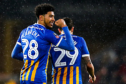 Josh Laurent of Shrewsbury Town celebrates scoring a goal to make it 2-1 - Mandatory by-line: Robbie Stephenson/JMP - 05/02/2019 - FOOTBALL - Molineux - Wolverhampton, England - Wolverhampton Wanderers v Shrewsbury Town - Emirates FA Cup fourth round replay