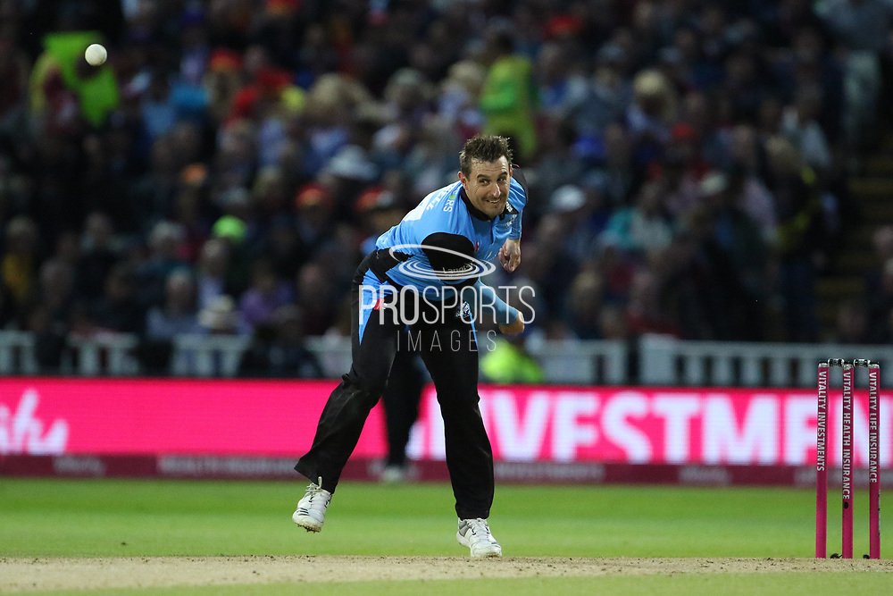 Worcestershire Rapids Daryl Mitchell during the final of the Vitality T20 Finals Day 2018 match between Worcestershire rapids and Sussex Sharks at Edgbaston, Birmingham, United Kingdom on 15 September 2018.