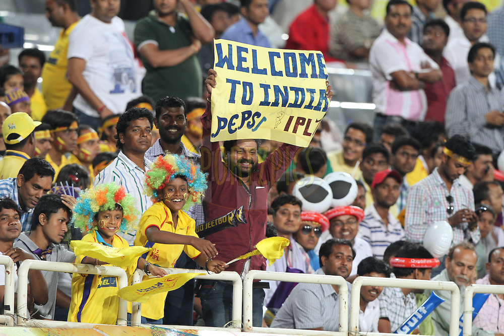 Cricket Lover during match 21 of the Pepsi Indian Premier League Season 2014 between the Chennai Superkings and the Kolkata Knight Riders  held at the JSCA International Cricket Stadium, Ranch, India on the 2nd May  2014Photo by Deepak Malik / IPL / SPORTZPICSImage use subject to terms and conditions which can be found here:  http://sportzpics.photoshelter.com/gallery/Pepsi-IPL-Image-terms-and-conditions/G00004VW1IVJ.gB0/C0000TScjhBM6ikg