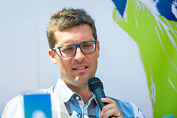 Miha Mlakar during Press conference of ATP Challenger Portoroz, on June 16, 2018 in Tivoli, Ljubljana, Slovenia. Photo by Ziga Zupan / Sportida